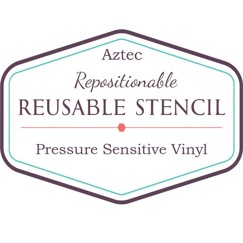 Aztec Reusable Stencil Vinyl
