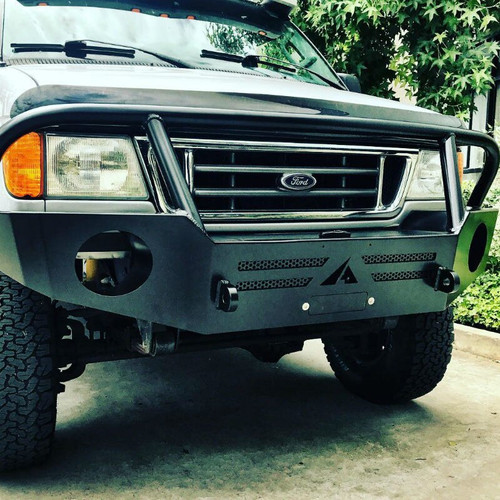 Aluminess front bumper on a 90's Ford E Series Van