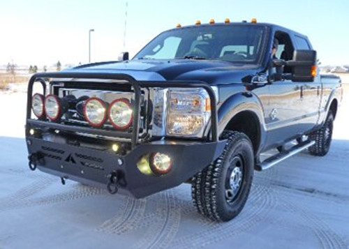 Black Aluminum Front Bumper on a Ford Superduty '11 to '16