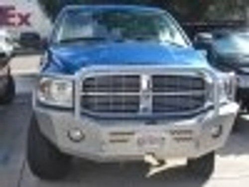 Aluminess Front Winch Bumper - Dodge Ram '06 to '09 front view