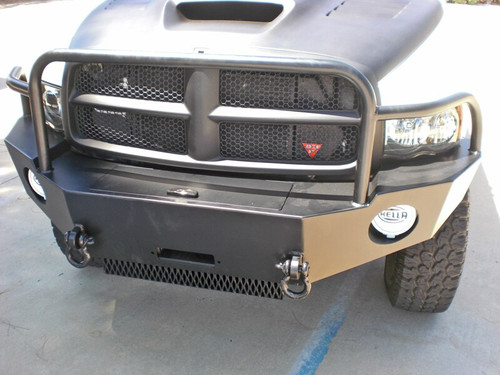 Aluminess Front Winch Bumper - Dodge Ram (2500-3500) '03 to '05 showing concealed winch compartment