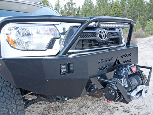 Aluminess Front Winch Bumper - Toyota Tacoma '12 to '15 with winch