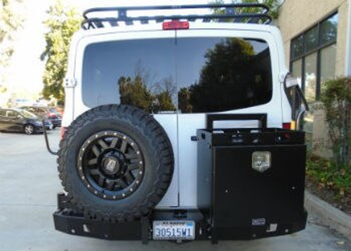 Aluminess Rear Bumper - Nissan NV '12 & Up with tire rack and storage box