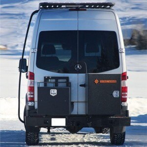 Slimline Rear Bumper (With Hitch)  - Mercedes Sprinter '07 to '18 with storage boxes