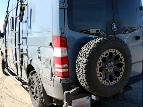 Aluminess Tire Carrier - Mercedes Sprinter '07 to '18