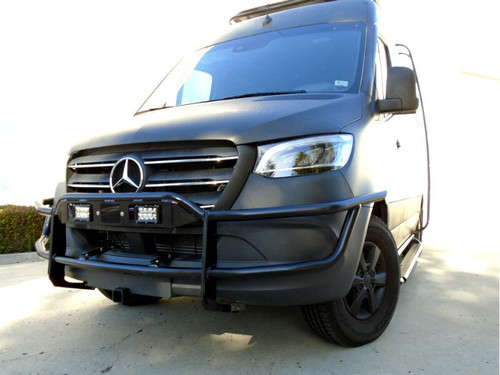 Aluminess Light Bar - Mercedes Sprinter '19 & Up (exc. 3500 Dually) Front view