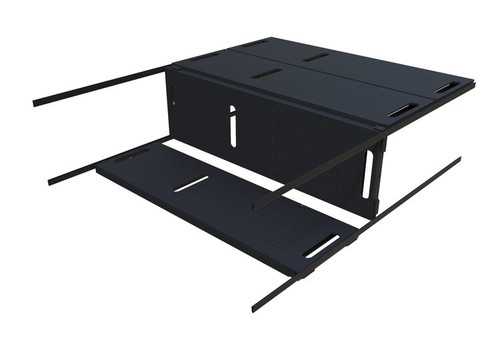 Versa Modular Bed System in black finish, showing bench configuration