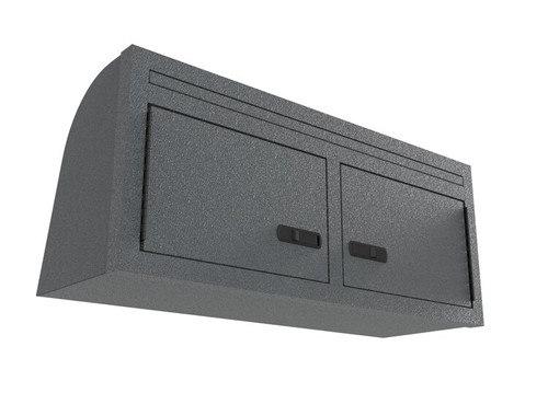 "36"" Overhead Aluminum Cabinet (Factory AC Compatible) - Mercedes Sprinter front view"