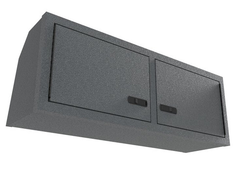 """42"""" Overhead Cabinet (Promaster, Transit, Sprinter w/ Non Factory Headliner) front view in grey silver"""