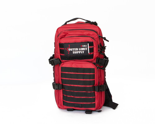 Individual First Aid Kit (w/ Backpack) in Red Front View