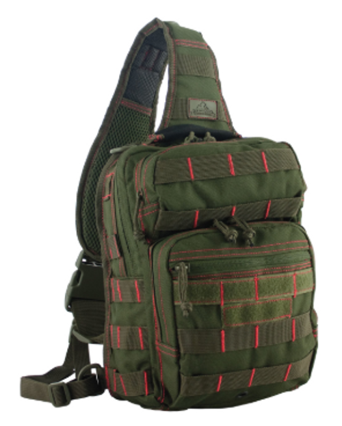 Individual First Aid Kit w/ Rover Sling in Olive Color - front view