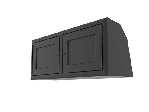 "Van Wife Components 36"" Five-Panel Door Overhead Van Cabinet in Grey"