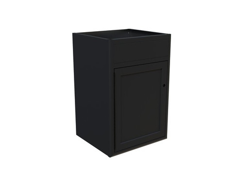 "Van Wife Components 24"" Sink Base Cabinet with textured black finish"