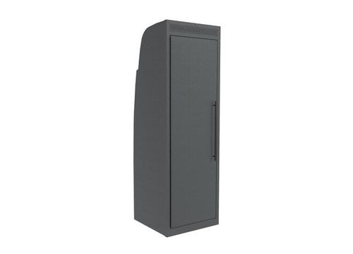 "24"" x 24"" Aluminum Shower Closet - Mercedes Sprinter (w/ Factory Headliner) in black finish"