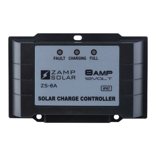 Zamp Solar 8 Amp 5-Stage PWM Solar Charge Controller Rear View