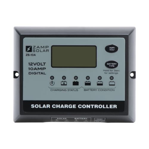 10 Amp 5-Stage PWM Solar Charge Controller Front View