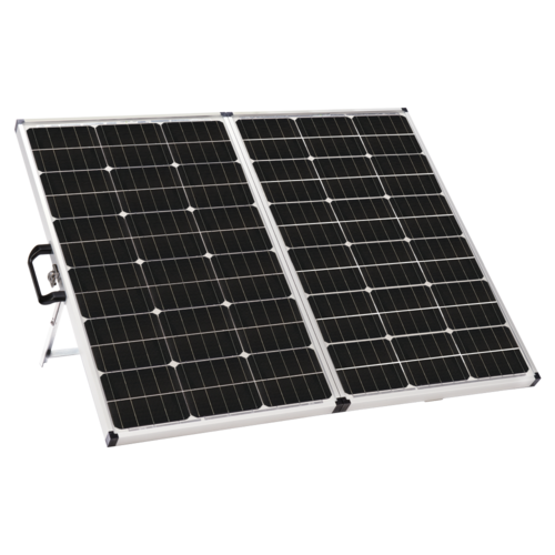 Winnebago 140 Watt Portable Solar Panel Quarter View
