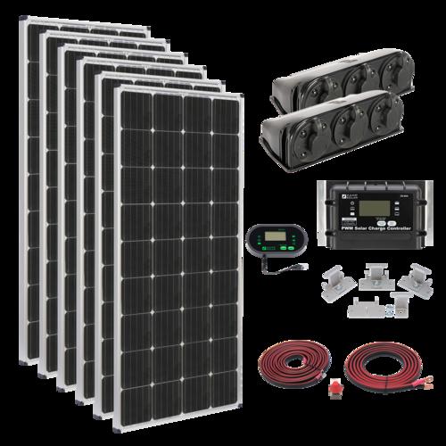 Zamp 1020-Watt Roof Mount Solar Kit Panel Quarter Complete