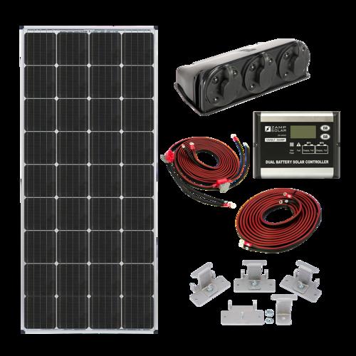 Zamp Solar 170-Watt Roof Mount Solar Kit for Dual Battery Types Complete Package