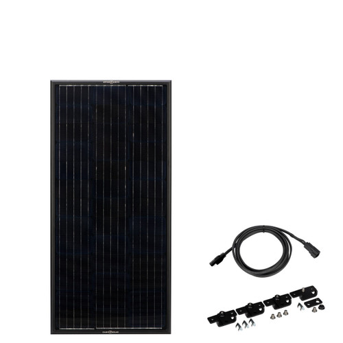 "Zamp Solar ""Obsidian"" 45 Watt Solar Panel Complete Kit"