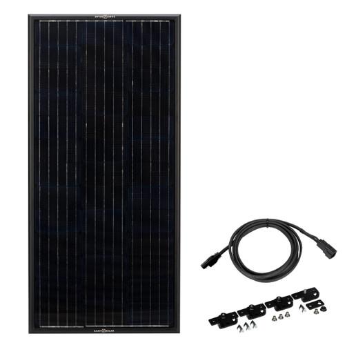 """Zamp Solar """"Obsidian"""" 100 Watt Solar Panel Package Contents"""