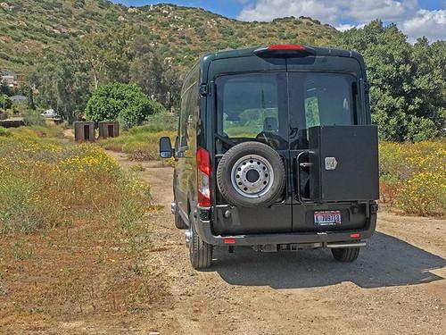 Aluminess Ford Transit 2015 2016 2017 2018 2019 2020 2021 Rear Door Passenger Driver Box Tire Rack fo Camper Van Storage