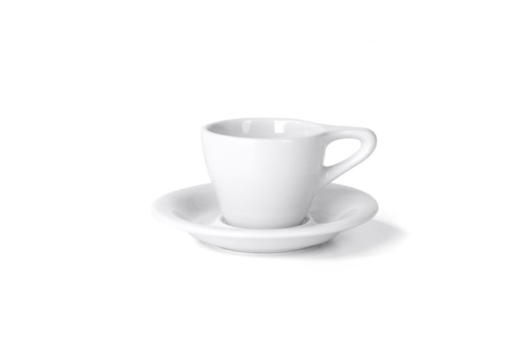 Lino 3oz Espresso Cup & Saucer - White