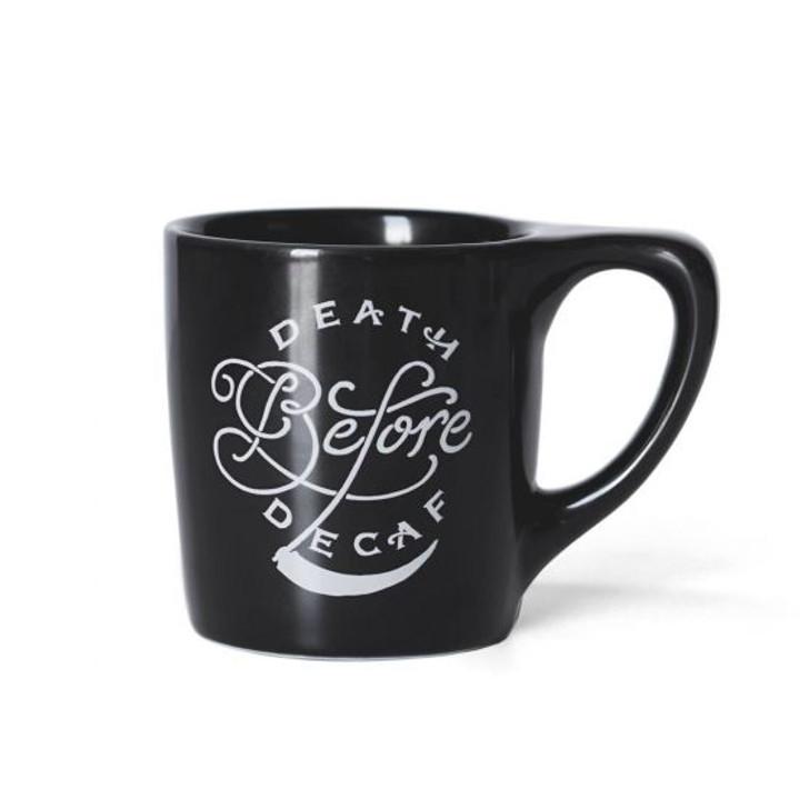 """Lino """"Death Before Decaf"""" 10oz Coffee Mug"""