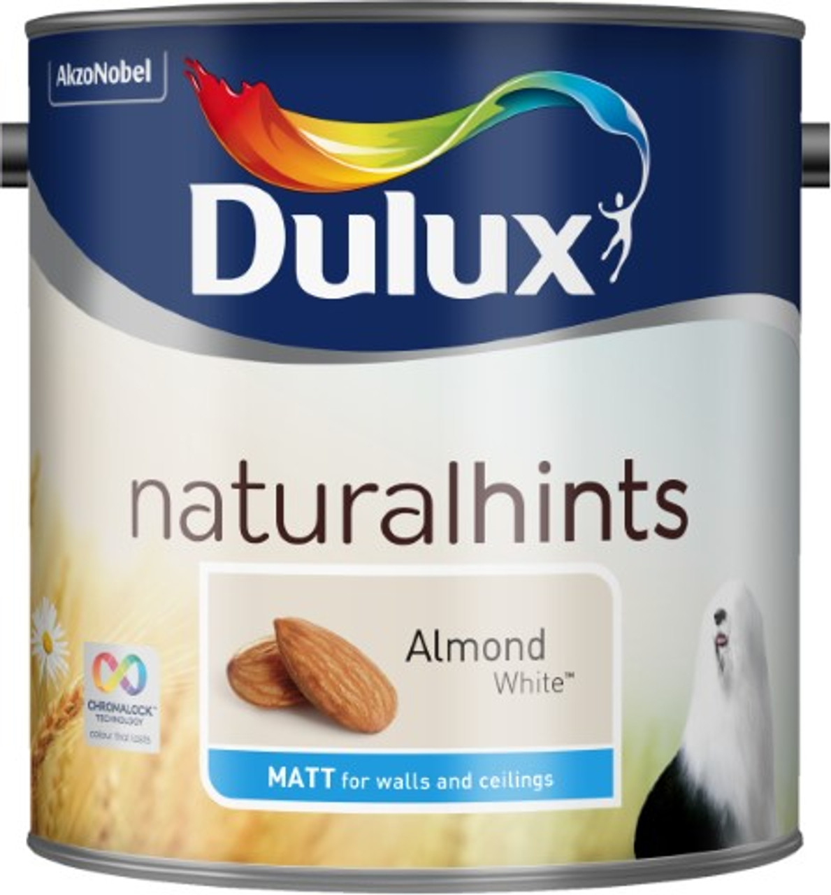 2.5L Dulux Matt Emulsion Almond White