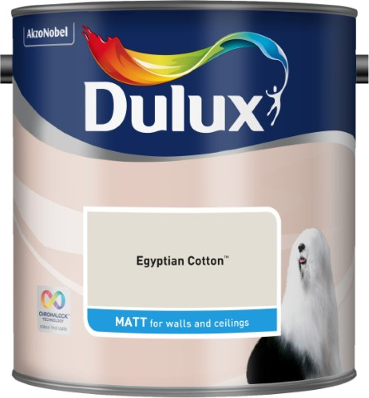 2.5L Dulux Matt Emulsion Egyptian Cotton