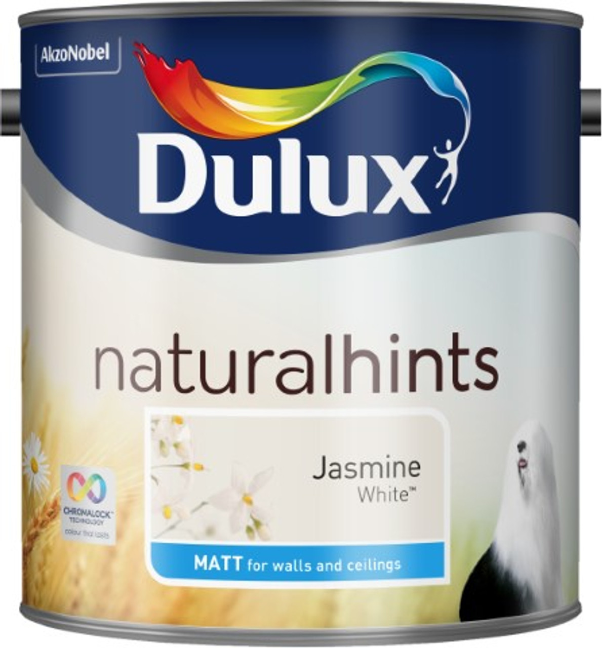 2.5L Dulux Matt Emulsion Jasmine White