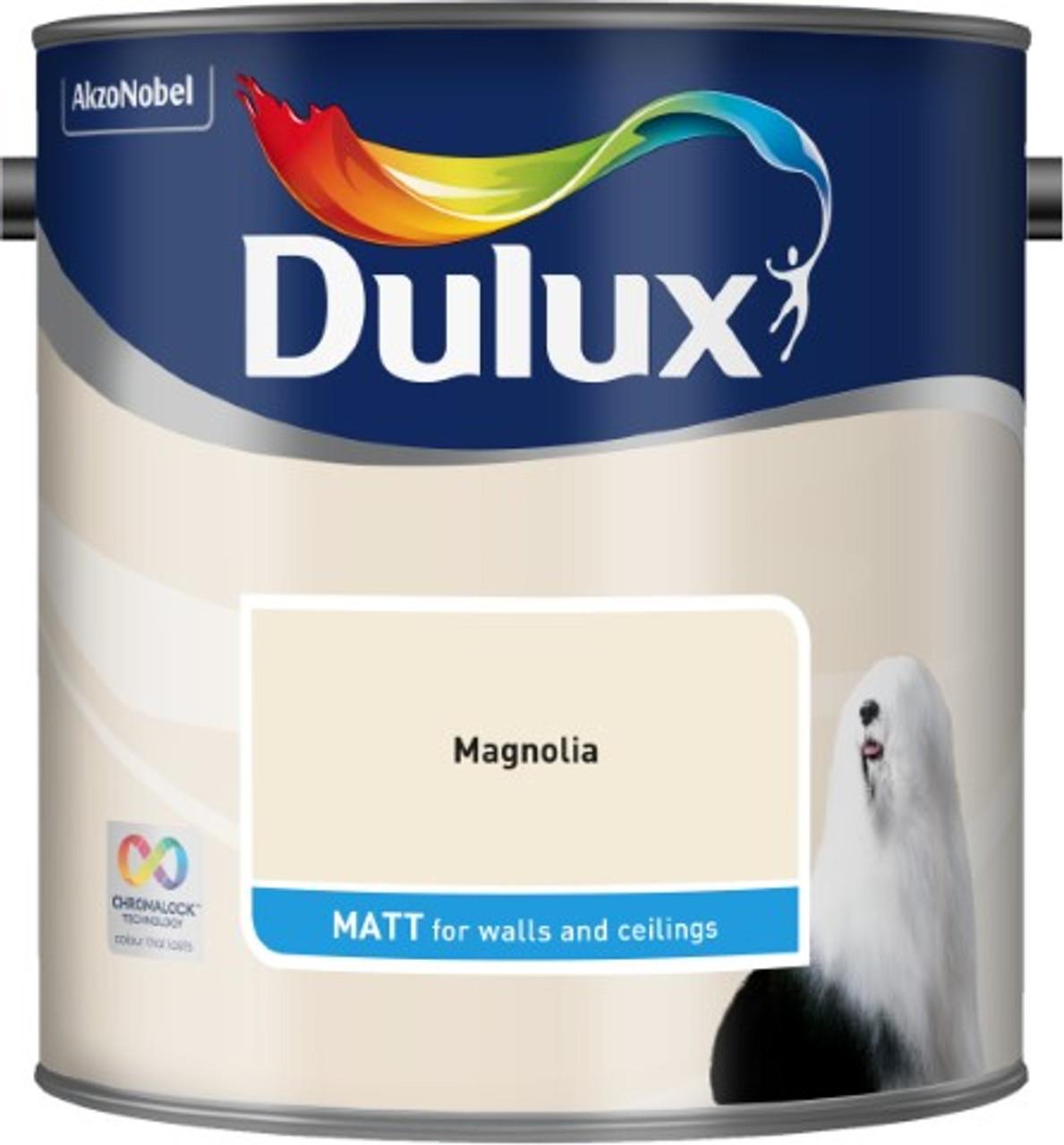 2.5L Dulux Matt Emulsion Magnolia