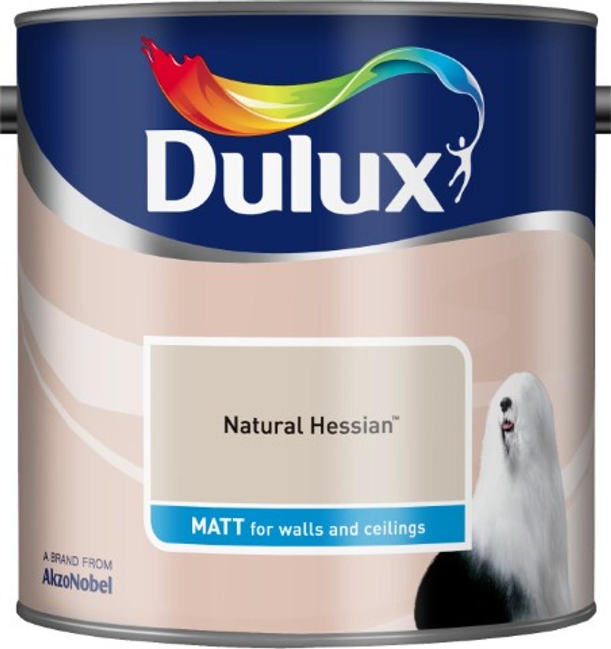 2.5L Dulux Matt Emulsion Natural Hessian