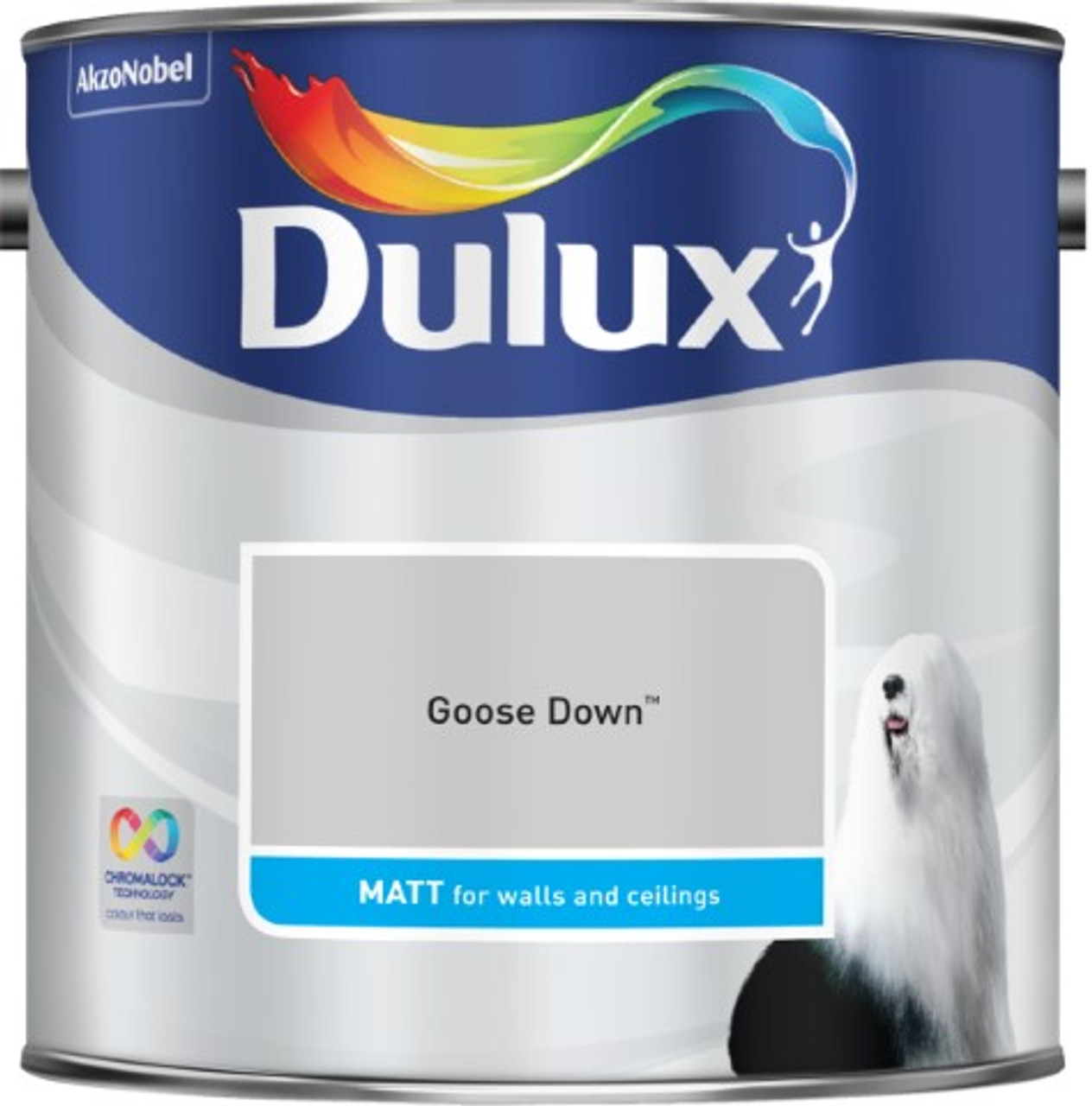 2.5L Dulux Matt Emulsion Goose Down