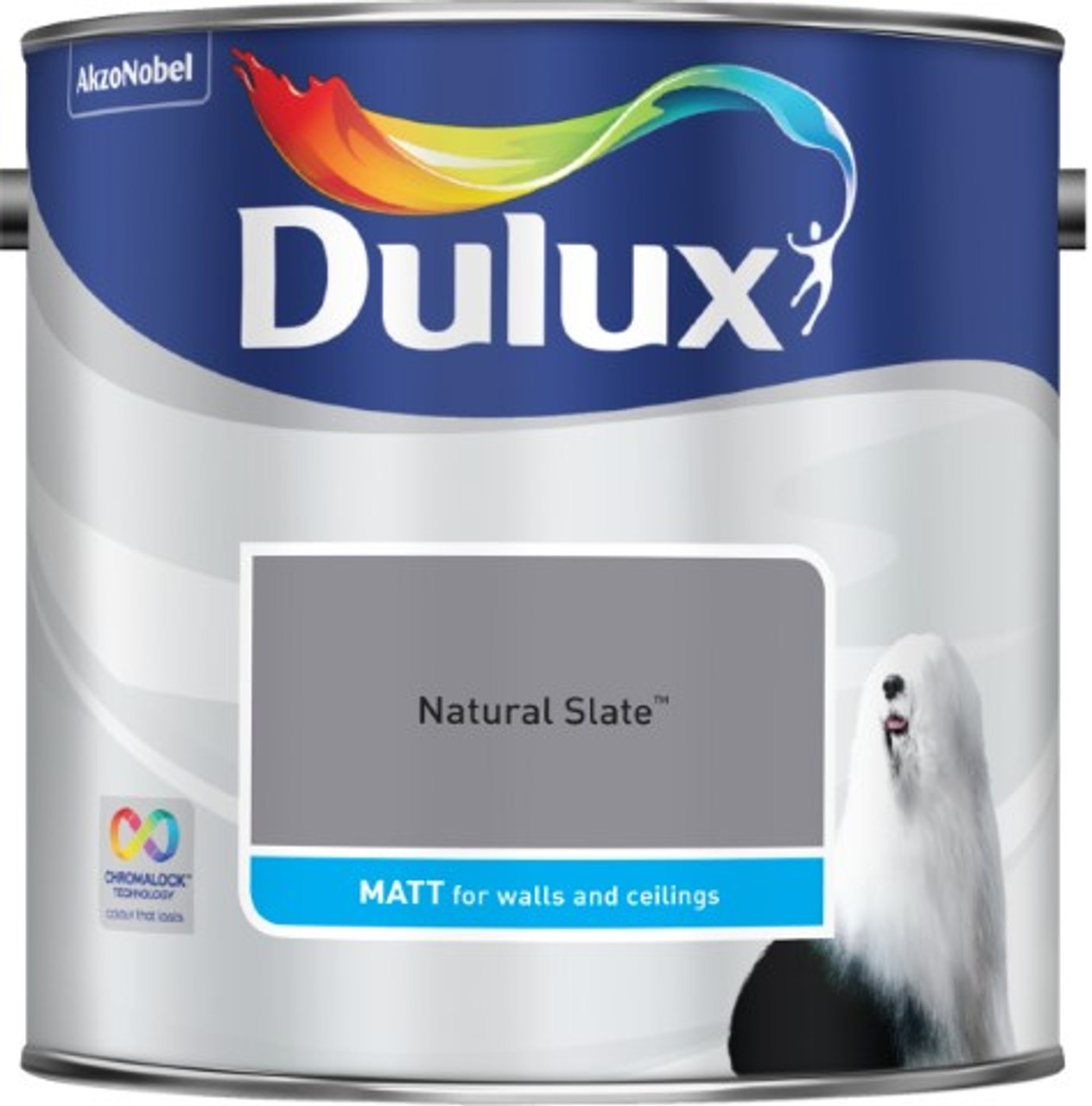 2.5L Dulux Matt Emulsion Natural Slate