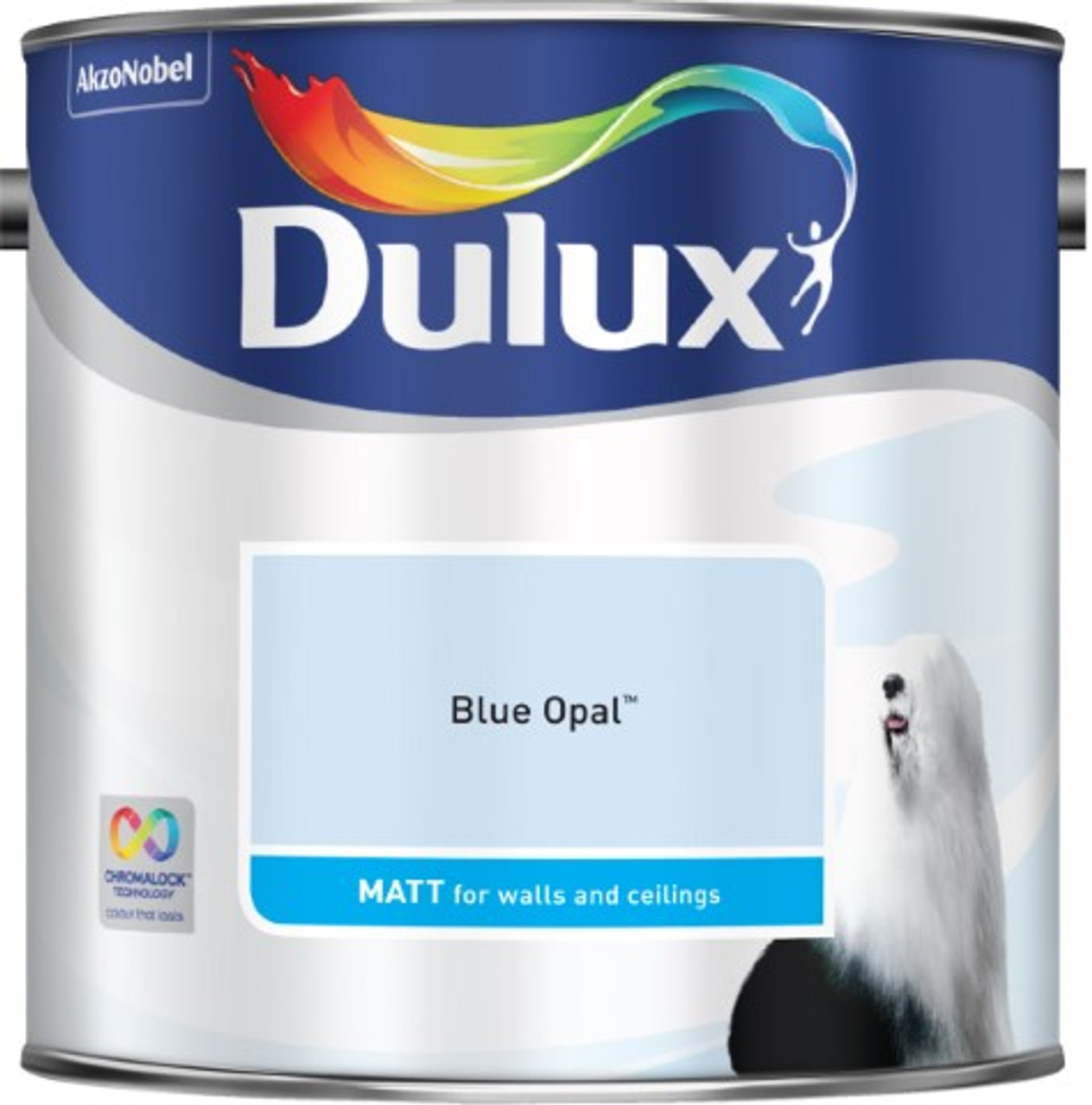 2.5L Dulux Matt Emulsion Blue Opal