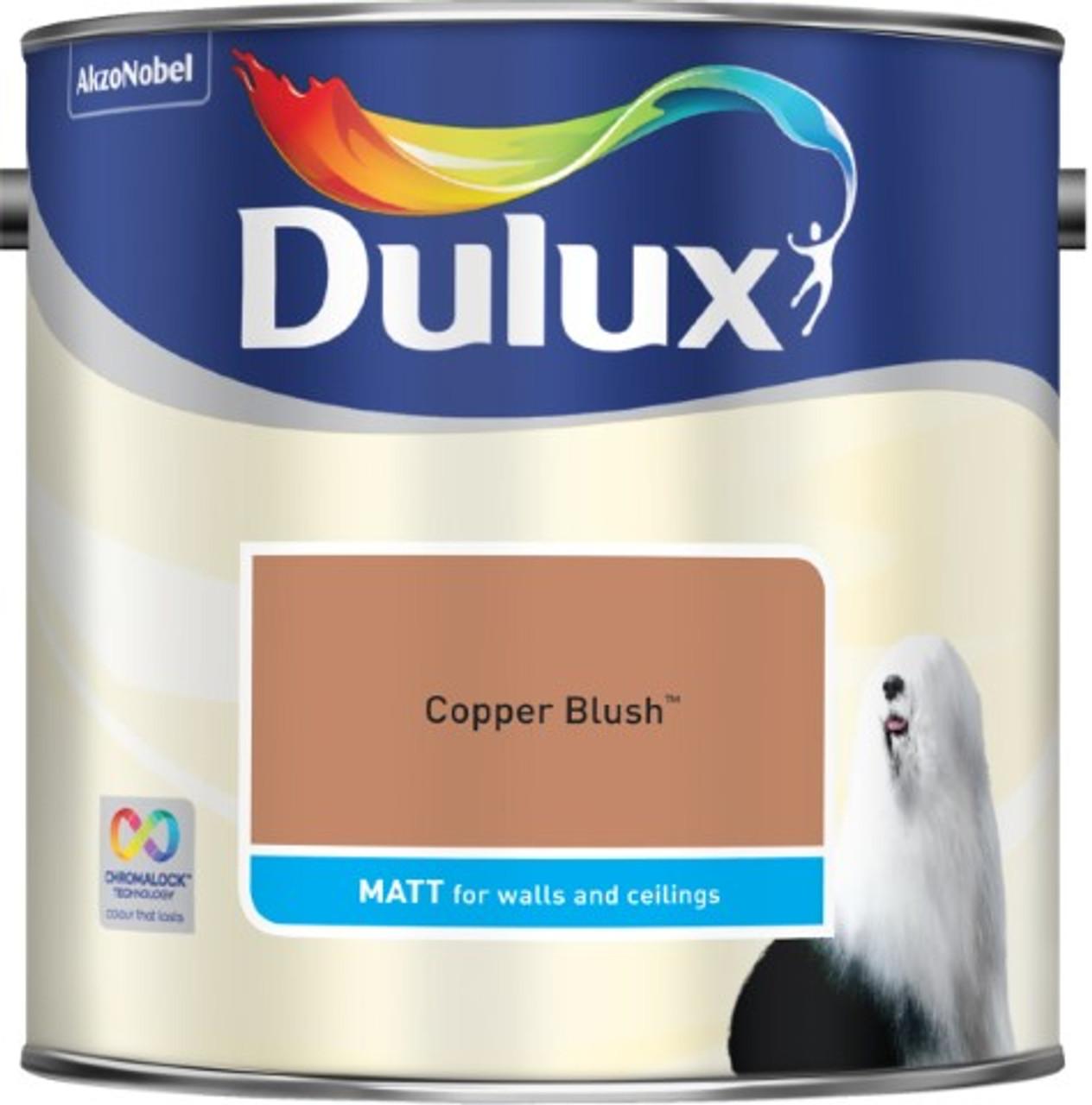 2.5L Dulux Matt Emulsion Copper Blush