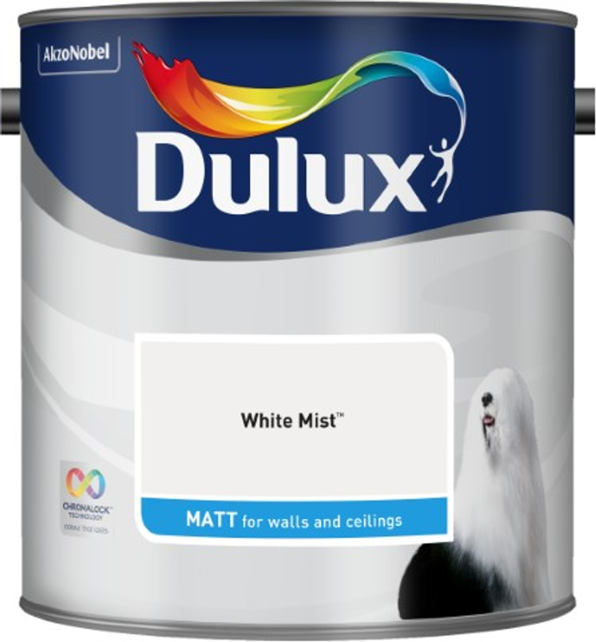 2.5L Dulux Matt Emulsion White Mist