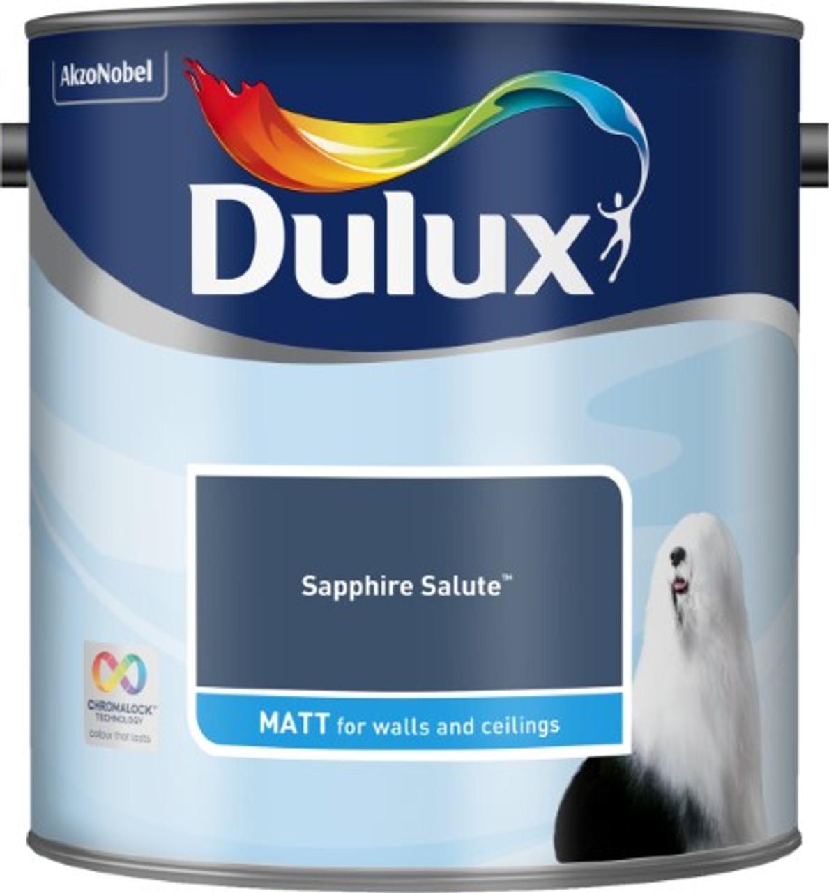 2.5L Dulux Matt Emulsion Sapphire Salute
