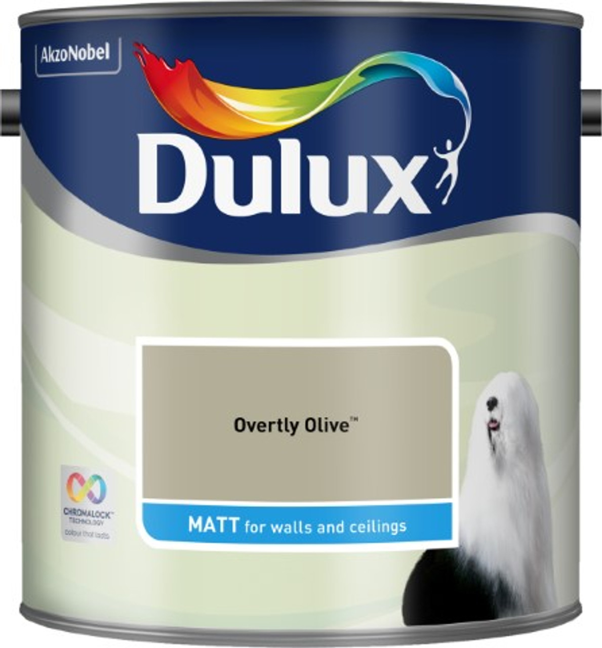 2.5L Dulux Matt Emulsion Overtly Olive