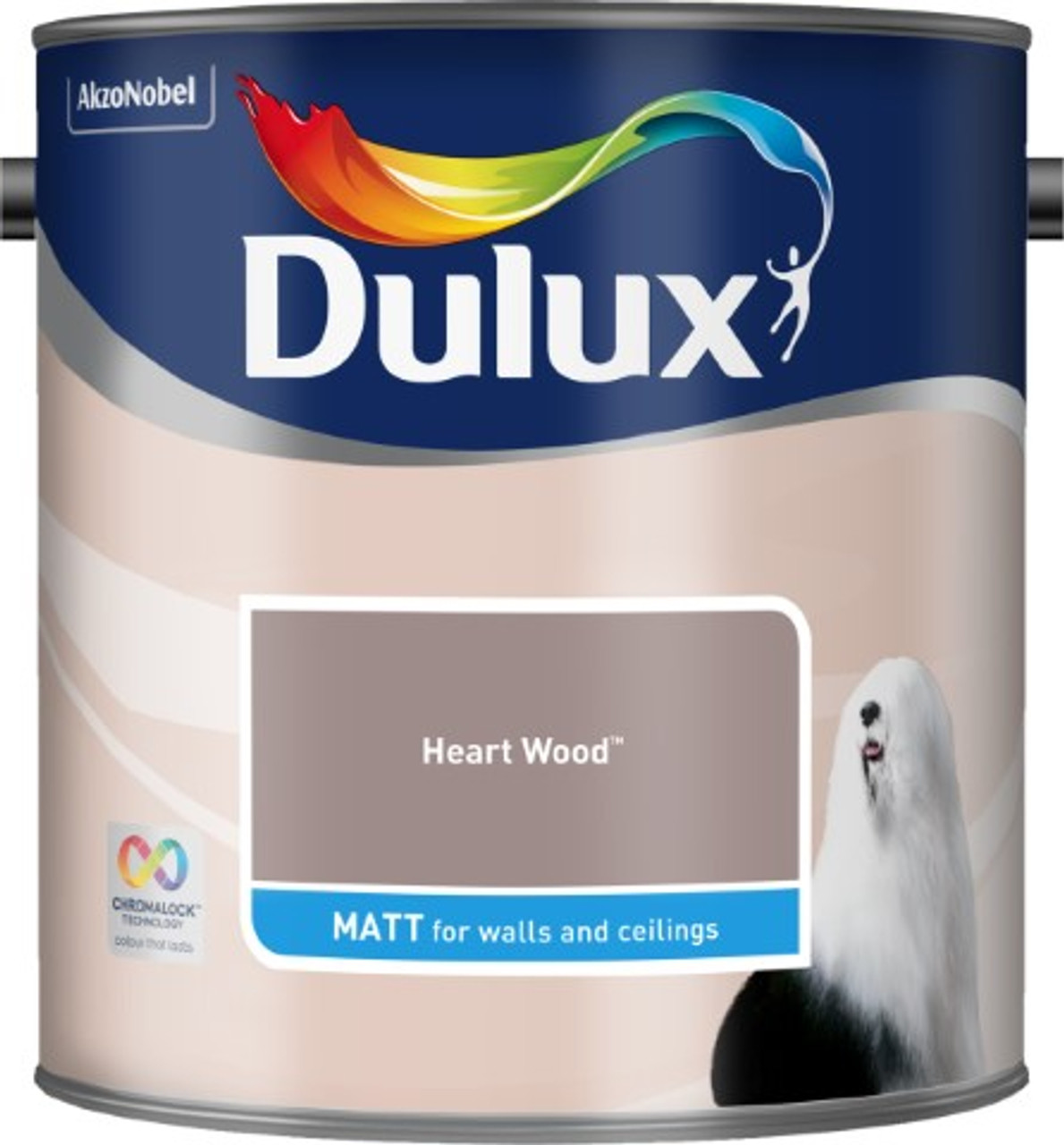 2.5L Dulux Matt Emulsion Heart Wood