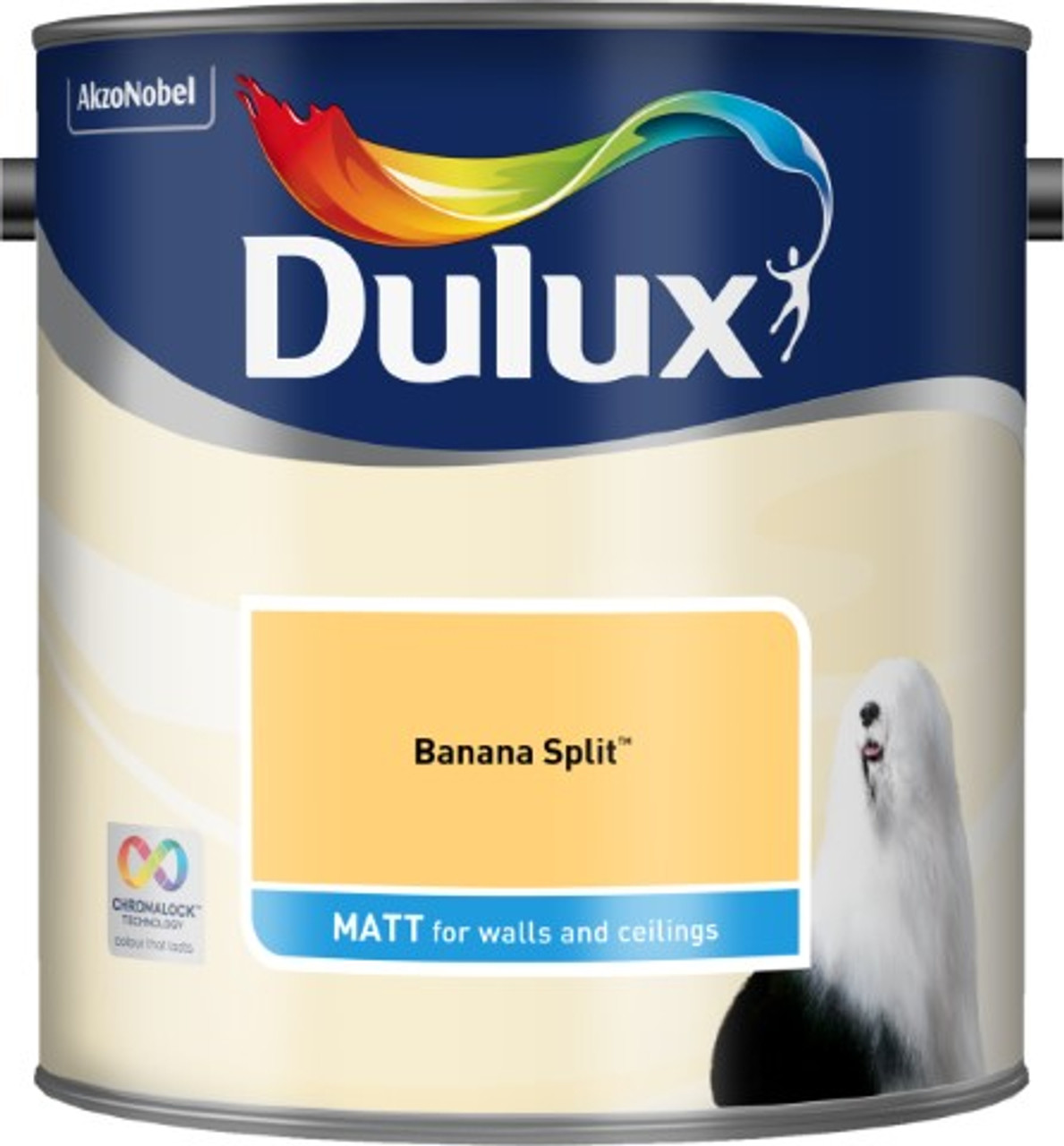 2.5L Dulux Matt Emulsion Banana Split