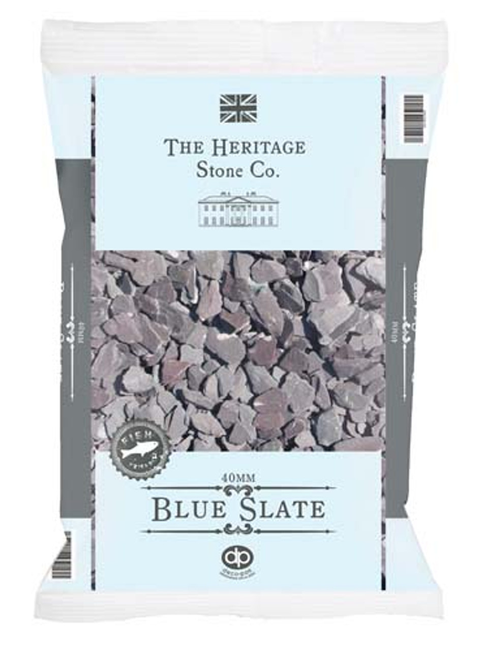 Blue Slate Gravel 40mm  -  LOCAL DELIVERY ONLY (3 MILE RADIUS)