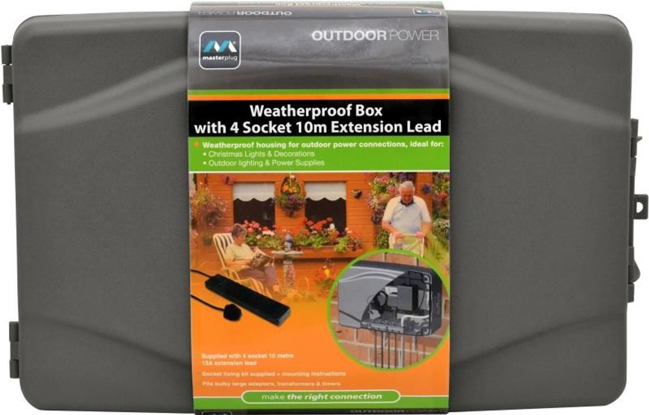 Weatherproof Box 4 Socket 10m