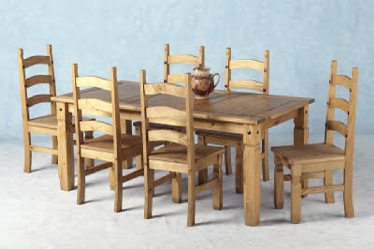 Corona Dining Table 6FT Pine