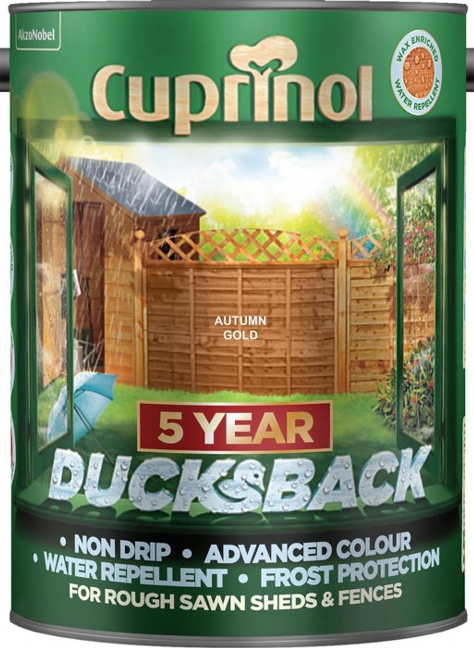 Cuprinol Ducksback 5L Autumn Gold
