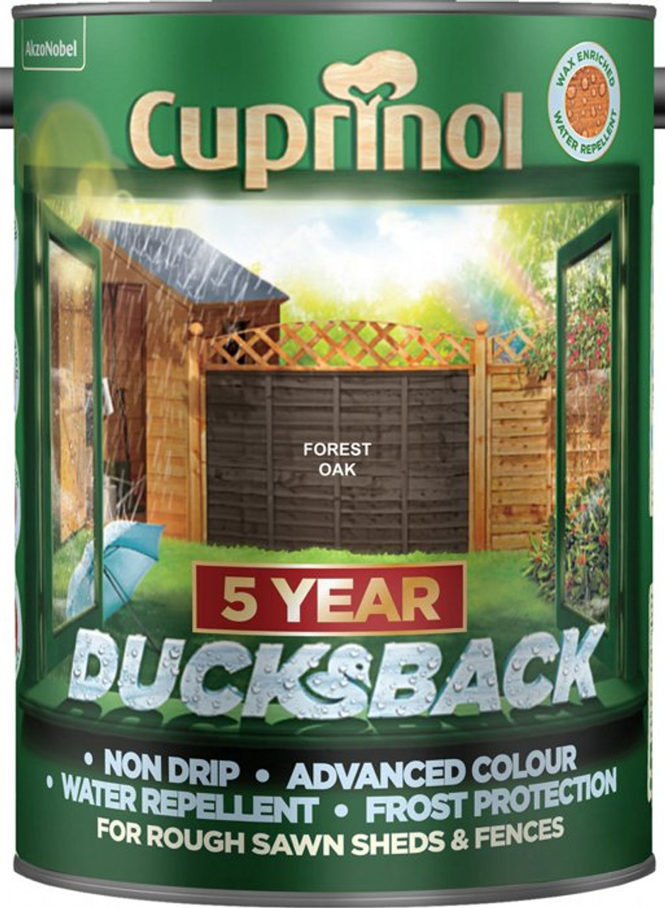 Cuprinol Ducksback 5L Forest Oak - LOCAL DELIVERY ONLY
