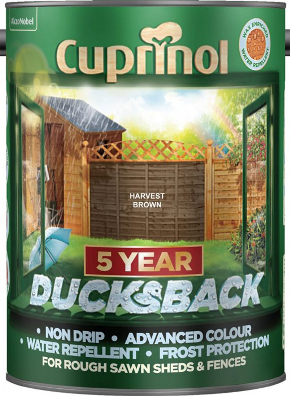Cuprinol Ducksback 5L Harvest Brown - LOCAL DELIVERY ONLY