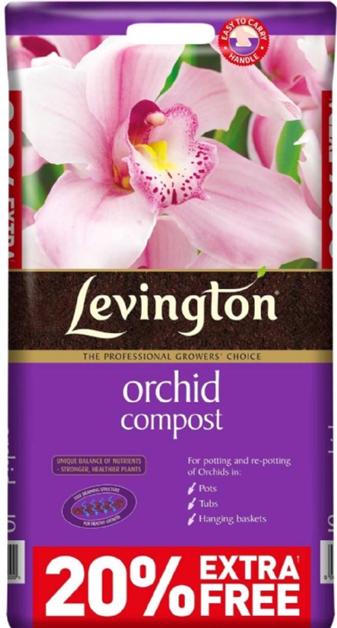 Levington 8ltr+20% Orchid Compost 10ltr