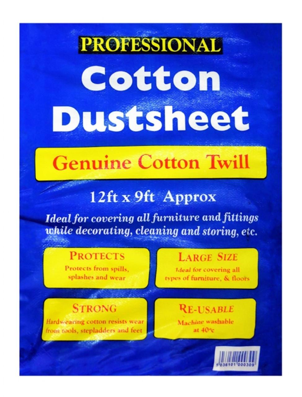 Tristar Cotton Dust Sheet 12x9ft